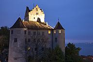 Germany, Baden Wuerttemberg, Meersburg, Meersburg Castle in the evening - WI000693