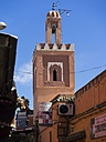 Africa, Morocco, Marrakesch-Tensift-El Haouz, tower of Moulay Abdelkader Ejjilali Mosque - AMF002262