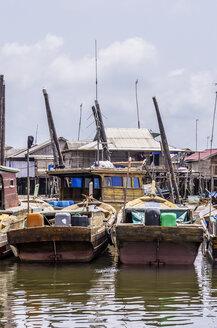 Indonesia, Riau Islands, Bintan Island, Fishing village, Fishing boats - THAF000403
