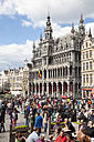 Belgium, Brussels, view to guild houses and Maison du Roi, municipal museum, at Grand Place, Grote Markt - WI000716