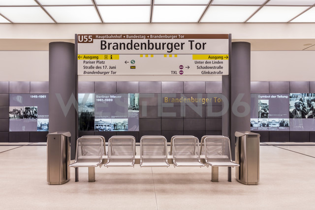 Germany, Berlin, modern architecture of  subway station Brandenburger Tor - NKF000115