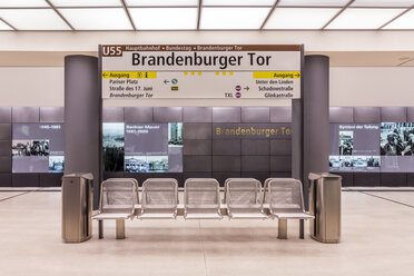 Germany, Berlin, modern architecture of  subway station Brandenburger Tor - NKF000115