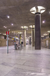 Germany, Berlin, modern architecture of  subway station Bundestag - NKF000119