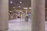 Germany, Berlin, modern architecture of  subway station Bundestag - NKF000120