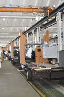 Assembly line production of motorhomes in a factory - SCH000222