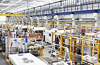 Assembly line production of motorhomes in a factory - SCH000234