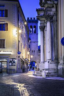 Italy, Trentino-Alto Adige, Riva del Garda, Torre Apponale in the evening - VT000227