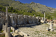 Turkey, Antalya Province, Pisidia, Reconstructed antique nymphaeum, Archaeological site of Sagalassos - ES001153