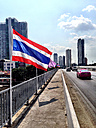 Thailand, Bangkok, on ChaoPhraya river, Thaksin bridge - AVSF000175