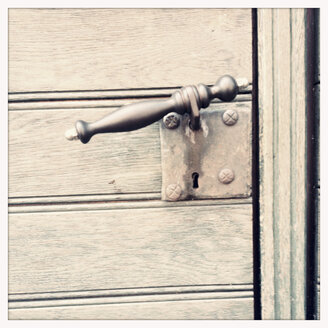 Door handle on a front door, Lower Saxony, Germany - MEMF000065