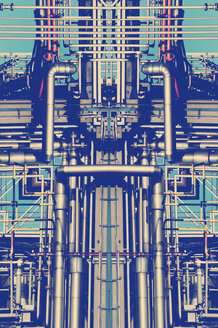 Pipeworks in chemical plant, digital composite - HOHF000822