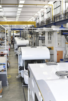 Assembly line production of motorhomes in a factory - SCH000261