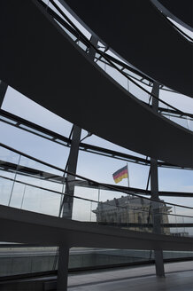 Germany, Berlin, part of glass dome of Reichstag - AS005387