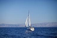 Greece, Ionic Islands, Corfu, view to another sailing boat - AJ000045