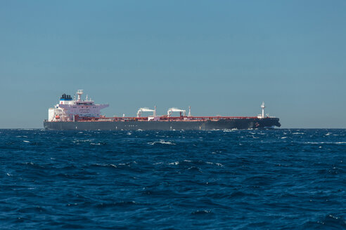 Spain, Andalusia, Tarifa, Oil tanker, Strait of Gibraltar - KB000053