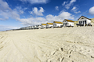 Netherlands, Zeeland, Walcheren, Domburg, Beach huts at beach - THAF000441