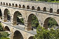 France, Languedoc Roussillon, Gard, view to Pont du Gard - JBF000099