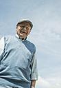 Portrait of happy old man wearing cap - UUF000686
