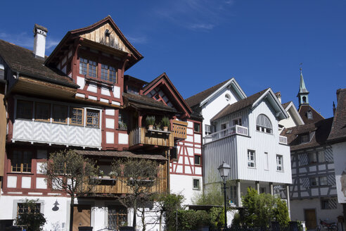 Switzerland, Thurgau, Arbon, Old town, Half-timbered house - WIF000738