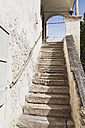 Italy, South Tyrol, Magreid, Villa, Old stairs - GW002896