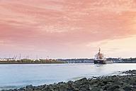Germany, Hamburg, Port of Hamburg, Koehlbrand river, Cargo ship - MSF004000
