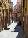 Morocco, Marakesh, Medina, alley Derb Dabachi - AMF002310