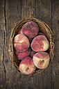 Vineyard peaches in a basket - LVF001389