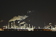 Germany, Chemical industrial plant , Refinery at night - SCH000280