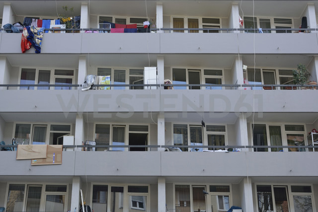 Balconies of a multi-family house, partial view - AXF000687