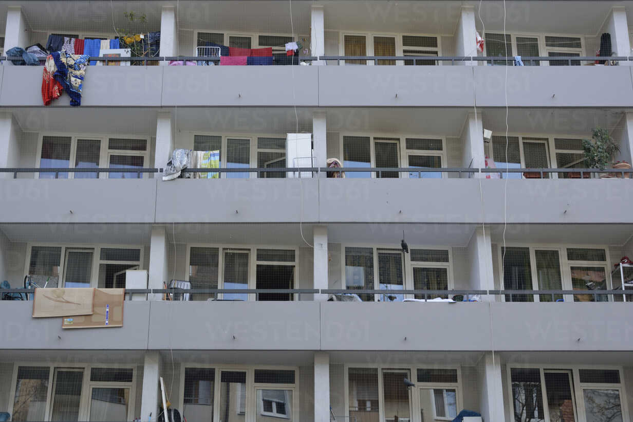 Balconies of a multi-family house, partial view - AXF000687 - Axel Ganguin/Westend61
