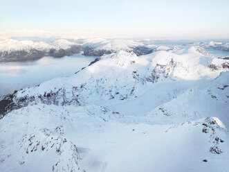 Aerial view of a snow landscape from the Helokopter, Alaska, USA - BMA000015