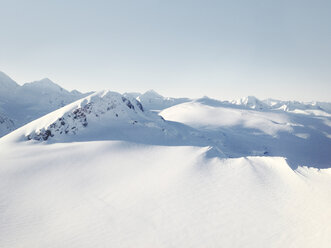 Aerial view of a snow landscape from the Helokopter, Alaska, USA - BMA000017