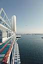 Germany, Baltic Sea, On board of a cruise ship in the morning, Harbour - MEM000208