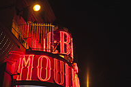 France, Paris, lightes Moulin Rouge by night - FMK001275