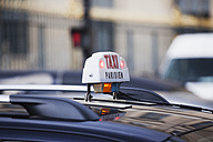 France, Paris, car roof with taxi sign - FMK001328