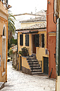 Greece, Ionic Islands, Corfu, alley in the old town - AJF000056