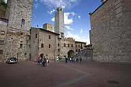 Italy, Tuscany, San Gimignano, Old town, Town hall tower - MYF000390