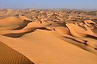 Africa, Algeria, Sahara, Tassili N'Ajjer National Park, Tadrart, Sand dunes of Oued in Djerane - ES001214