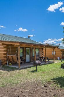 USA, Texas, Log home cabins - ABAF001378
