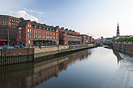 Germany, Hamburg, View of the Zollkanal and historic warehouse district - RJF000200