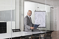Germany, Munich, Businessman in conference room - RBYF000595
