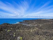 Spain, Canary Islands, La Palma, Cliff coast with banana plantation - AMF002417