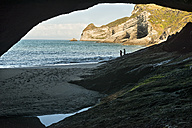 New Zealand, Golden Bay, Puponga, outlook from a cave near Cape Farewell - SHF001496