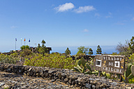 Spain, Canary Islands, Tenerife, Mirador de Chirche, Sign at observation terrace - MABF000230