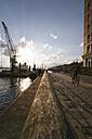 Germany, Hamburg, Port of Hamburg, Museum harbour Oevelgoenne, Old harbour crane - KRP000547