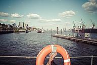 Germany, Hamburg, Port of Hamburg, Lifebelt - KRPF000569