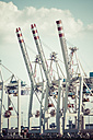 Germany, Hamurg, cranes at container terminal Tollerort - KRPF000616