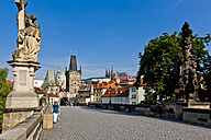 Czech Republic, Prague, Charles Bridge, Statue of St. Luthgard - AMF002472