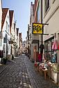 Germany, Bremen, view to alley at Schnoorviertel - WI000838