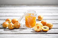 Apricot jam and apricots, Prunus Armeniaca - MAEF008577